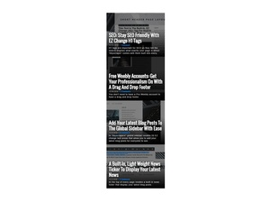 Latest Posts (Image Style) Weebly Widget