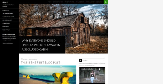 Oxford Weebly Theme