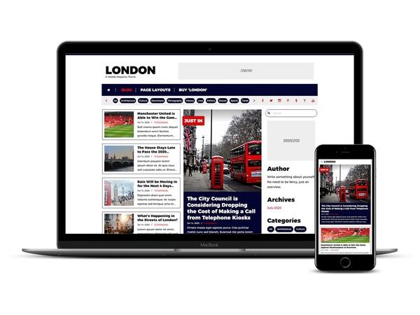 London Weebly Magazine Theme