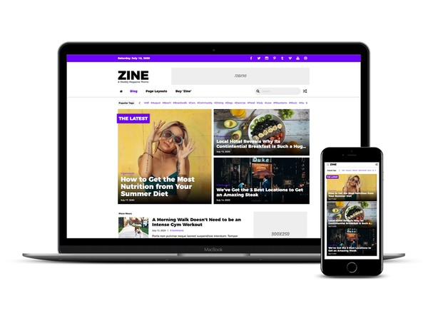 Zine Weebly Magazine Theme