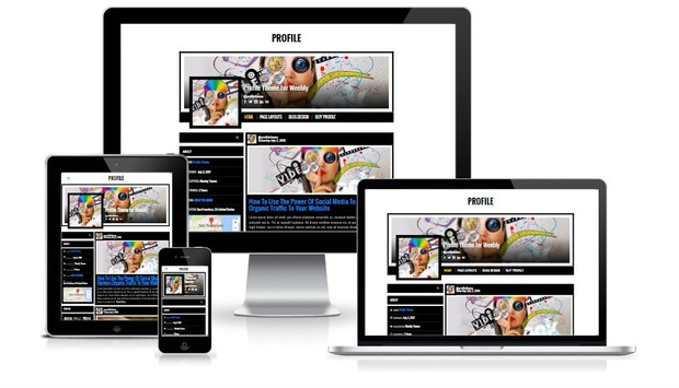Profile Weebly Theme