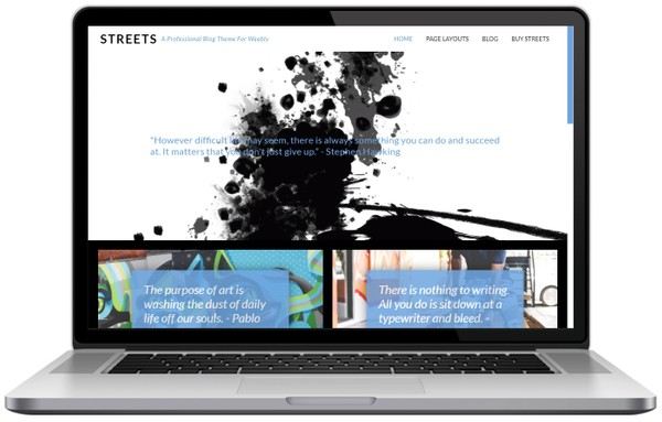 Streets Weebly Blog Theme