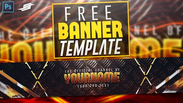 FREE GOLD CLEAN BANNER TEMPLATE BY SANCZO