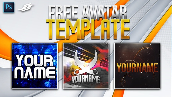 FREE 3 AVATAR / PROFILE PICTURE TEMPLATE (CS:GO, Clean, Abstract)