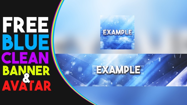 Blue Clean Banner and Avatar Template - Free by Sanczo
