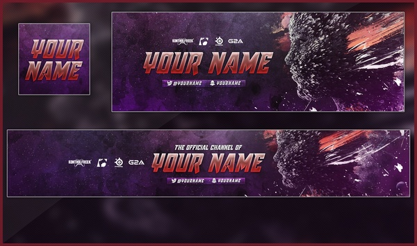 ABSTRACT REVAMP - BANNER, HEADER, LOGO TEMPLATE by Sanczo