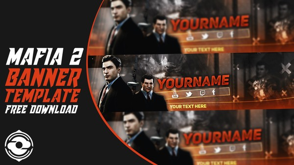 Mafia II Free Banner Template by Sanczo