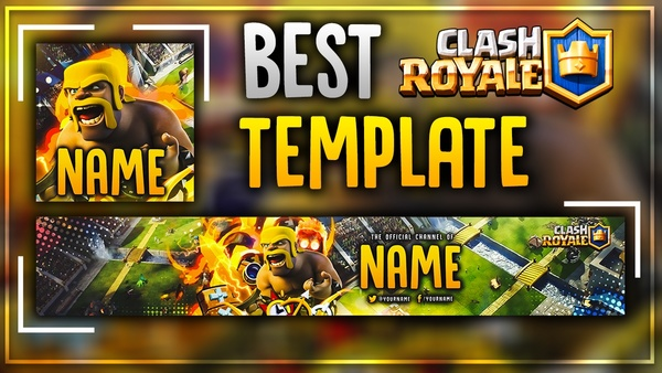 BEST CLASH ROYALE FREE TEMPLATE - BANNER & LOGO by Sanczo
