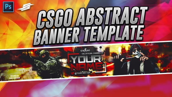 FREE CSGO ABSTRACT BANNER TEMPLATE by Sanczo