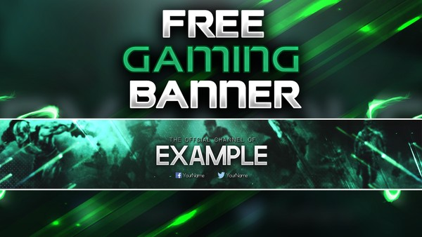FREE GAMING BANNER TEMPLATE by Sanczo