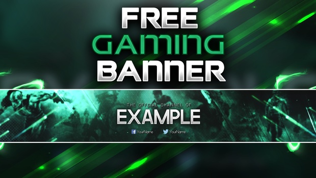 free gaming banner template by sanczo sanczodesign