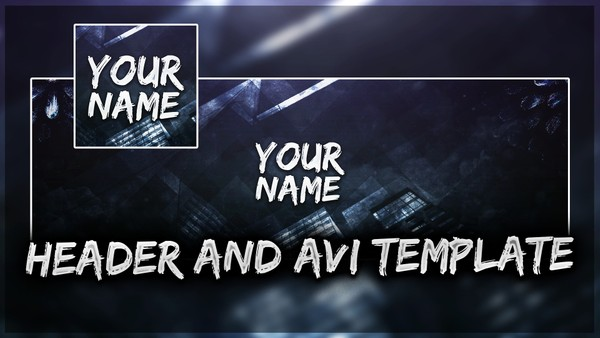 FREE CLEAN TWITTER HEADER AND AVI TEMPLATE by Sanczo