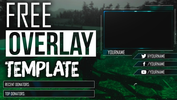 free webcam overlay template for livestream twitch you