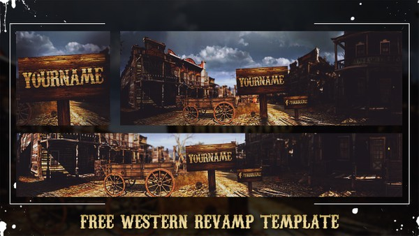 FREE WESTERN REVAMP TEMPLATE (Banner, Header, Avatar) by Sanczo