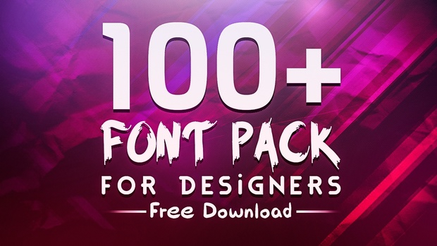 amazing 100 font pack for designers free download