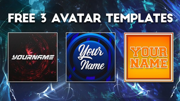 FREE 3 AVATAR / PROFILE PICTURE TEMPLATES by Sanczo