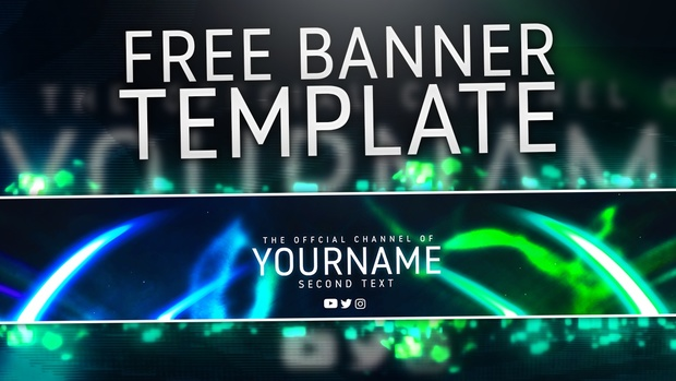 Poshop Banner Templates | Abstract Free Banner Template Photoshop Cc Cs6 By