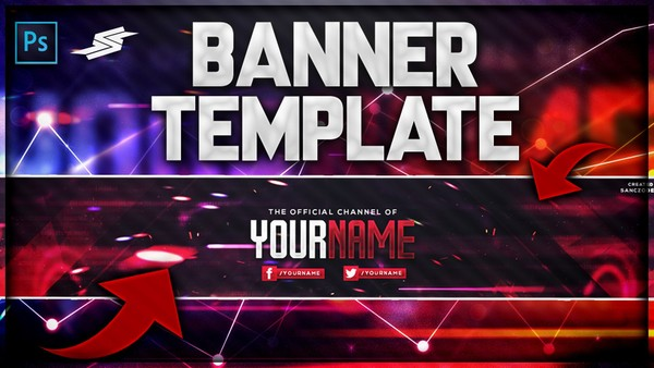 FREE RED CLEAN BANNER TEMPLATE by Sanczo