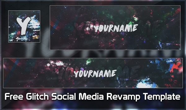 Free Glitch Social Media Revamp Template
