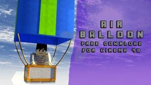 Air Ballon Rig - Minecraft C4D