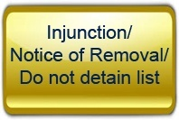 SUPER Injunction: Notice of Removal (do not detain list)