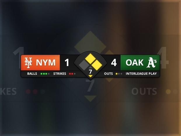 Editable Baseball Scoreboard (PSD)