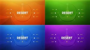 Hyper Desert Twitter Header PSD
