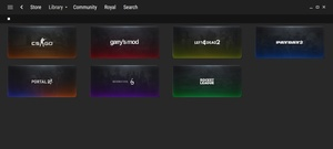 Steam Games Library Custom Image Template