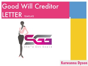 Good Will Letter to Creditor