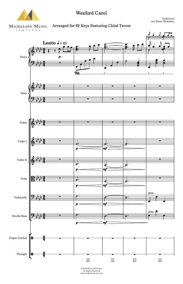 Wexford Carol - String Orchestra + Solo Violin