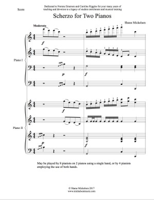 Scherzo for 2 Pianos