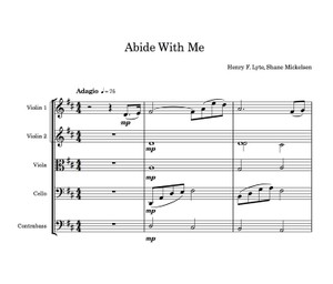 Abide With Me - String Orchestra Score and Parts - Arranged by Shane Mickelsen