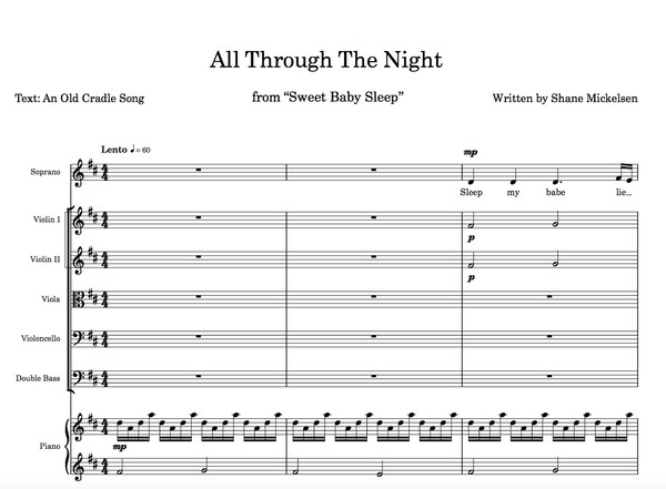 All Through The Night - Score + Parts