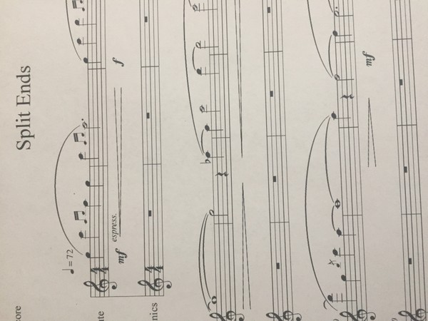 Score: Split Ends - Solo for Flute and Electronics by Shane Mickelsen