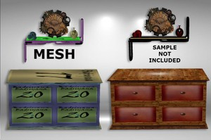 STEAMPUNK DRESSER AND SHELF MESH