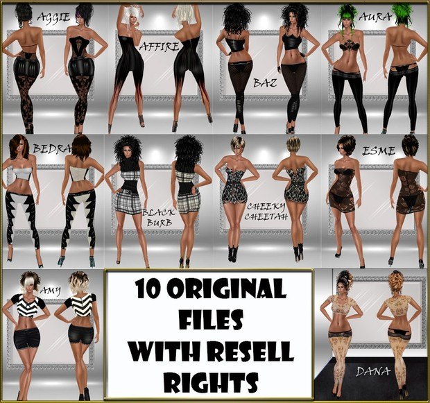 10 Original Files With RESELL RIGHTS