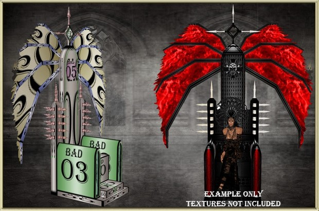 GOTHIC WING THRONE MESH