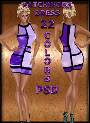 PATCHWORK DRESS with PSD