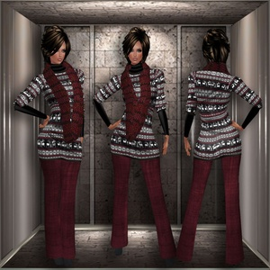 REINDEER SWEATER AND PANTS