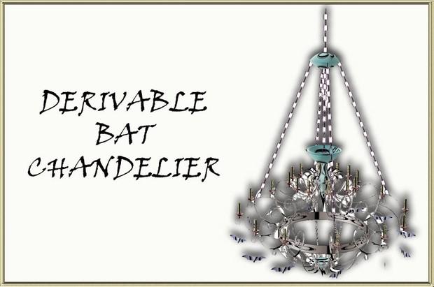 BAT CHANDELIER MESH