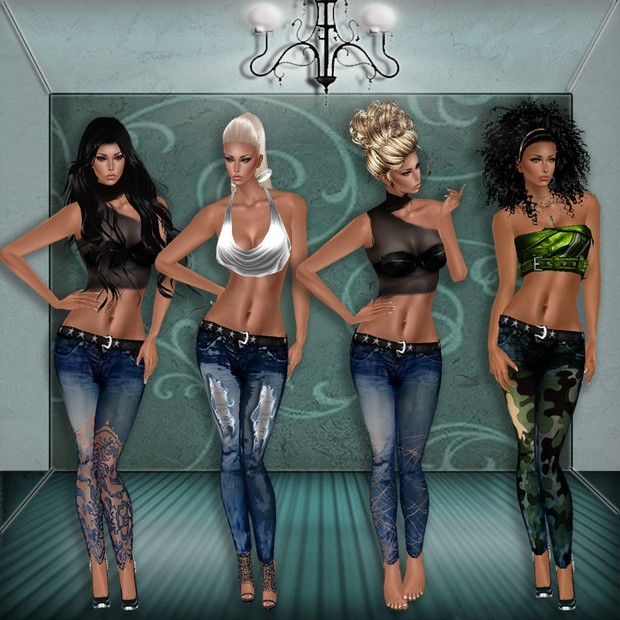 4 PACK JEANS