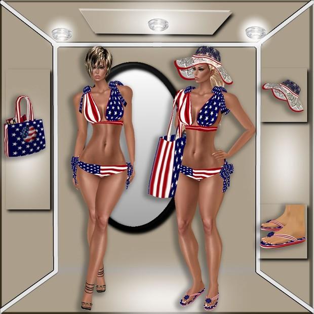USA FLAG BIKINI BUNDLE