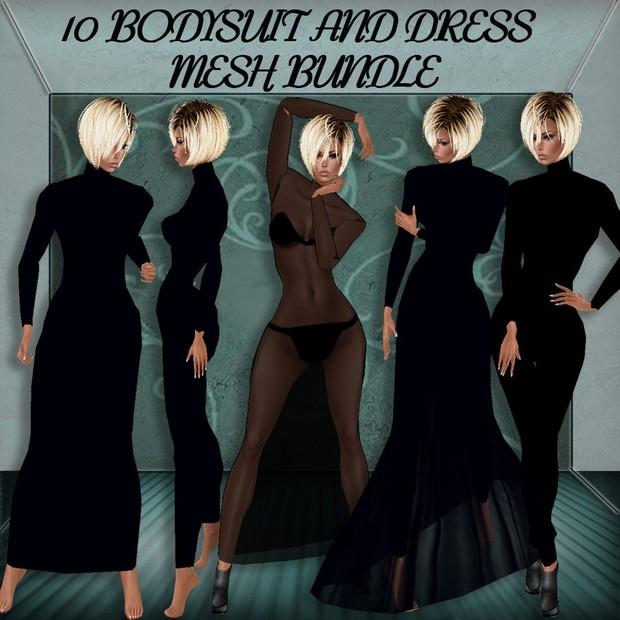 10 BODYSUIT AND DRESS MESH BUNDLE