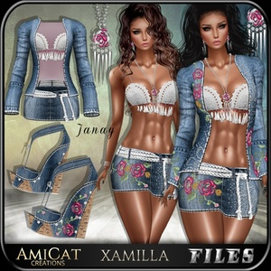 AMICAT IMVU JANAY Outfit + shoes + jewelry TEXTURES