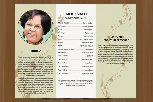 trifold funeral program template ms word photoshop