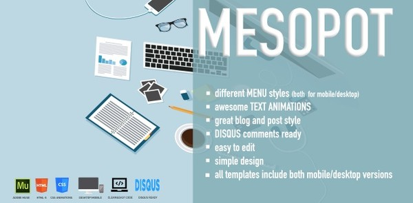 Mesopot - Creative Muse Template with HTML files