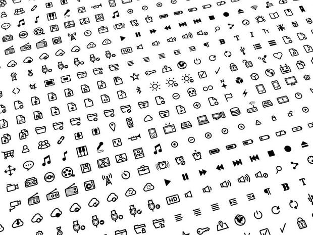 Deluxe Icon Set (500 Icons)