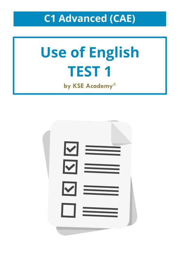 C1 Advanced Use of English Test 1