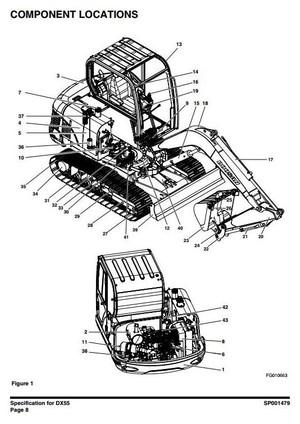 Doosan Excavator DX55: 50001 and Up Workshop Service Manual