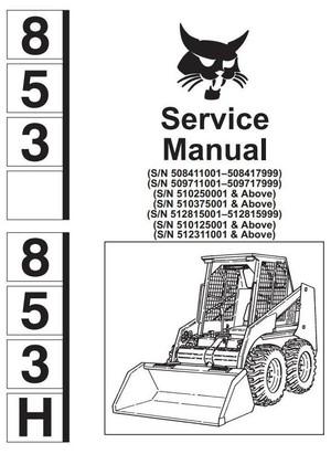 Bobcat Skid Steer Loader Type 853, 853H: Workshop Service Manual